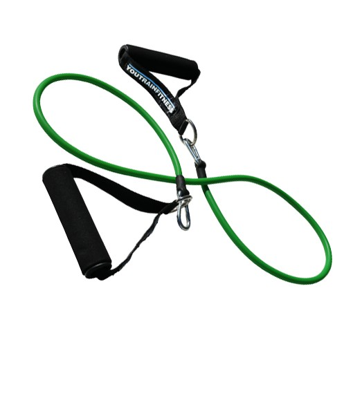 7lb Light Green Single Resistance Band with Handles