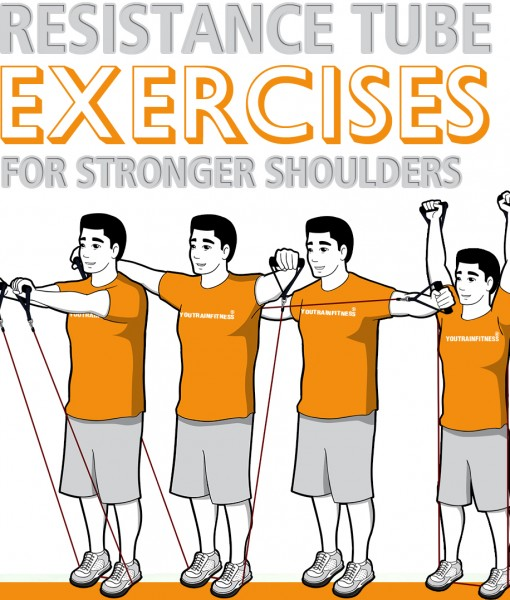 Resistance Tube Exercises for Stronger Shoulders