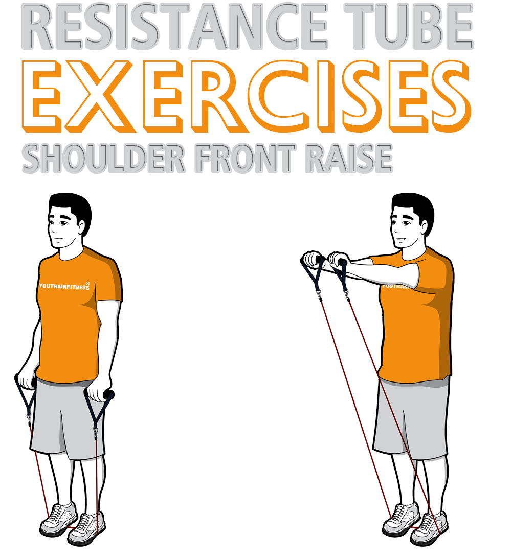 resistance-tube-shoulder-front-raise