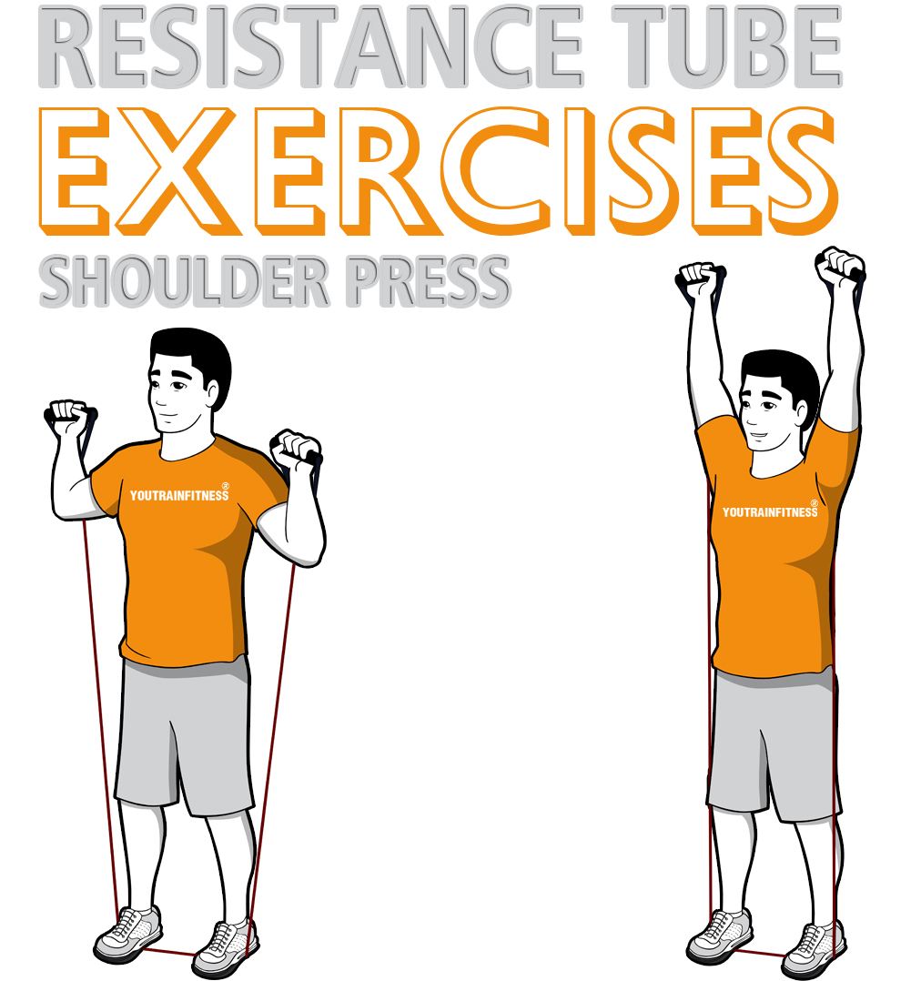 resistance-tube-shoulder-press