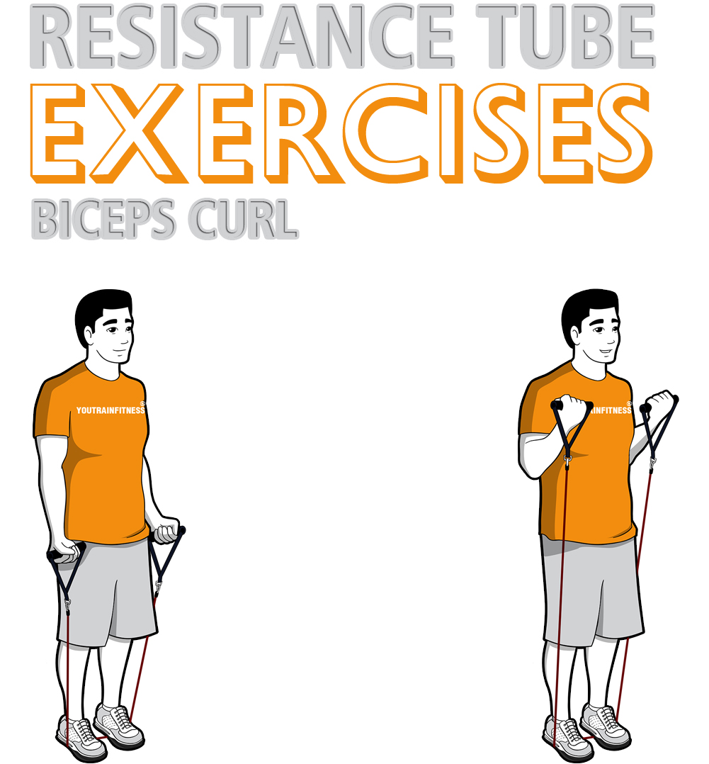 resistance-band-standing-biceps-curl
