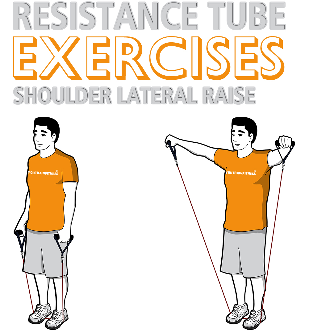 resistance-tube-standing-shoulder-lateral-raise