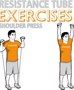 resistance-tube-standing-shoulder-press