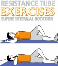 Resistance Tube Supine Internal Rotation