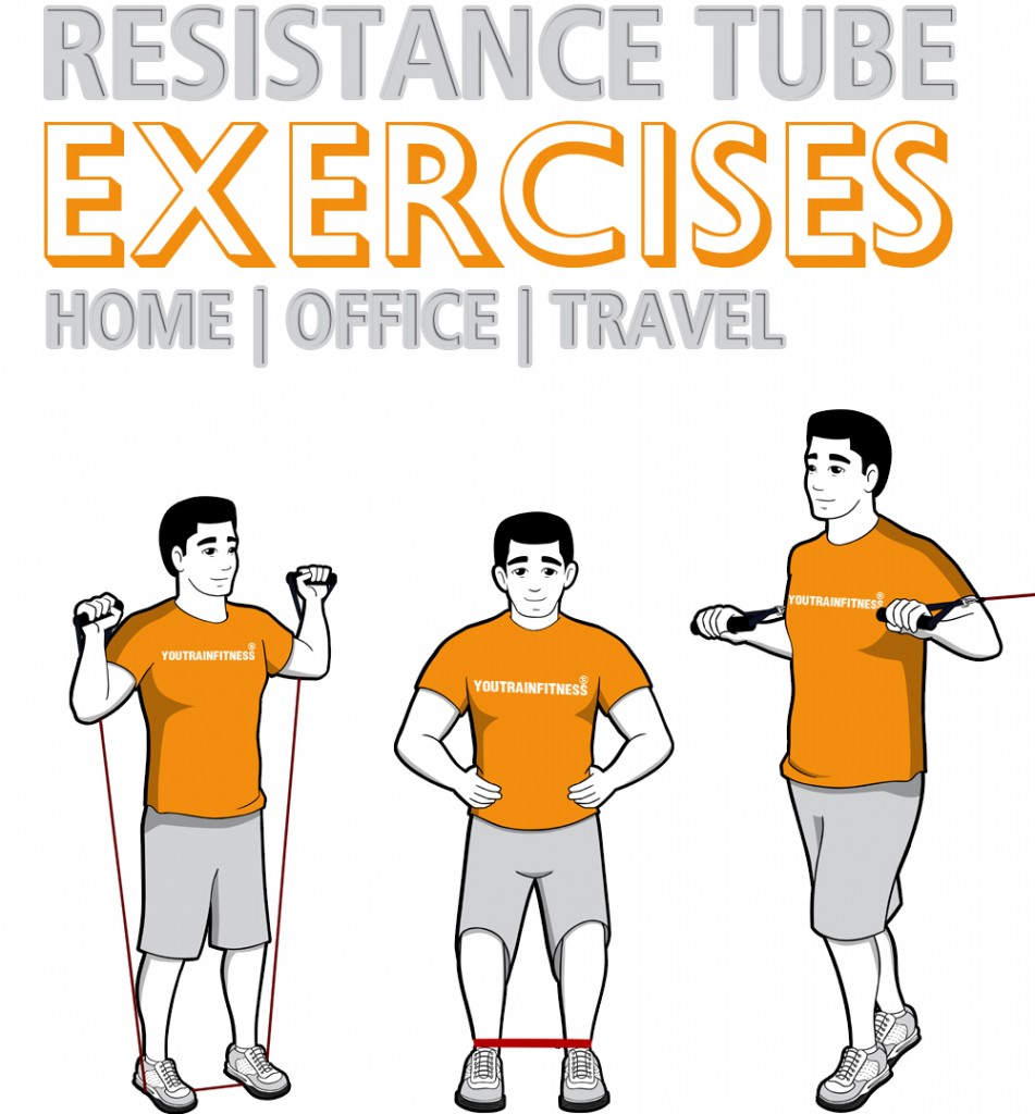 11 Resistance Tube And Band Exercises For Home, Office, Or