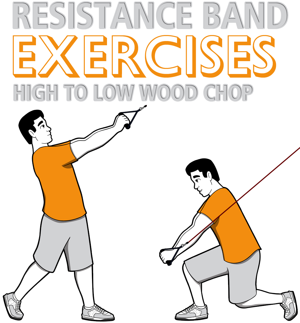 Resistance Band High to Low Wood Chop
