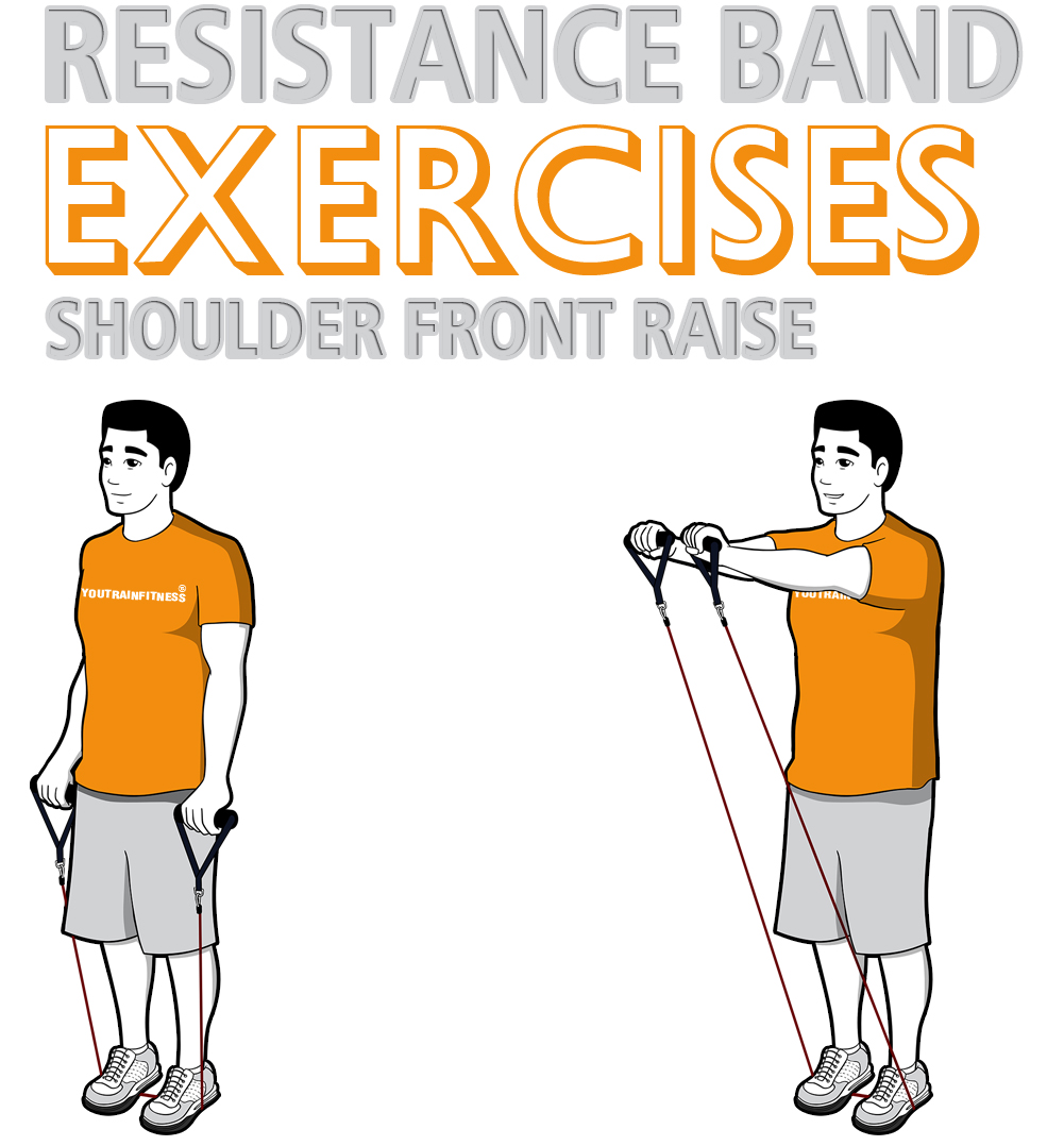 Resistance Band Shoulder Front Raise