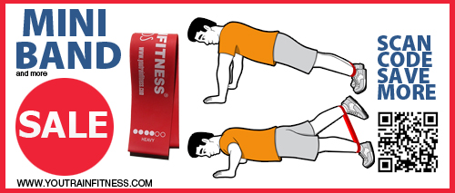 Mini Band Pushup and Glutes Exercise