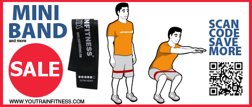 Mini Band Squat Upper Leg and Glutes Exercises